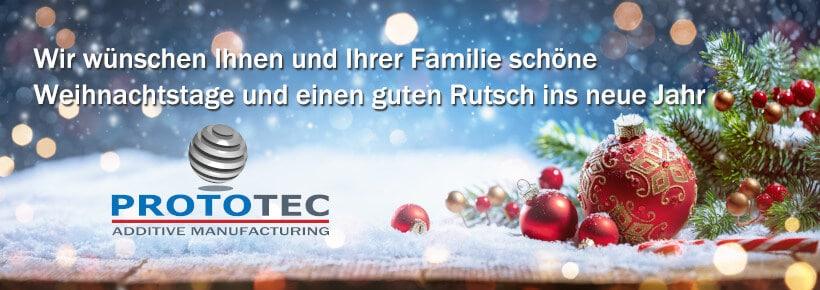 Weihnachtsgrüße Prototec 2019