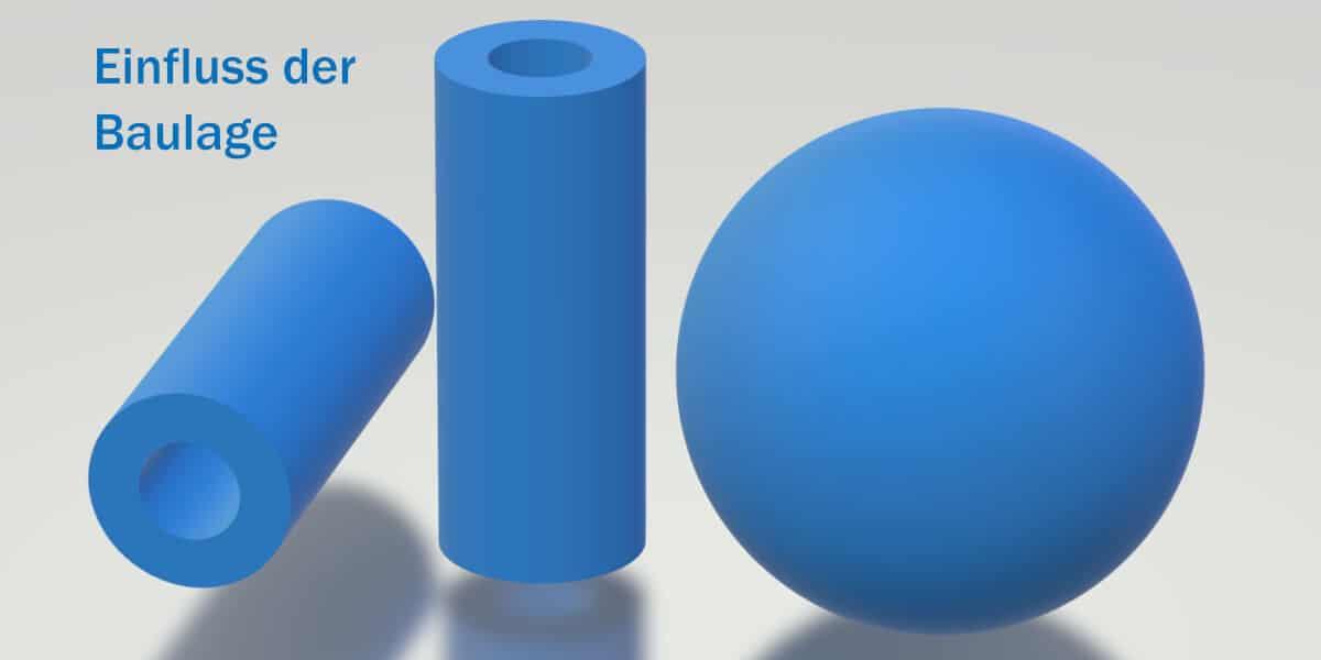 Einfluss der Baulage X/Y/Z im 3D-Druck