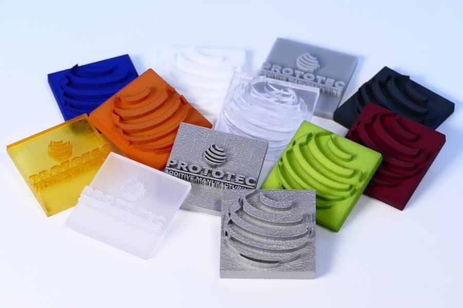 Prototec 3D-Druck Materialien Übersicht