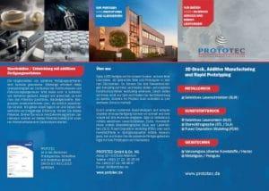 Flyer-Unternehmenspräsentation 3D Druck und Rapid Prototyping