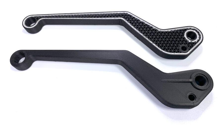 PROTOTEC / Markforged: faserverstärkter Hebel mit Glasfaser im 3D-Druck